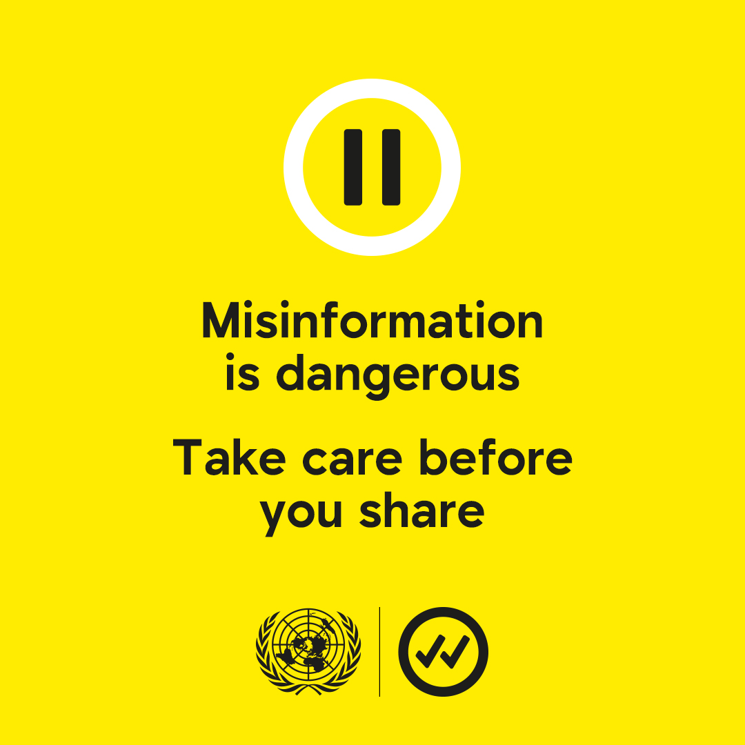 Social Media Day 2020 - Take care before you share - misinformation is dangerous - United Nations