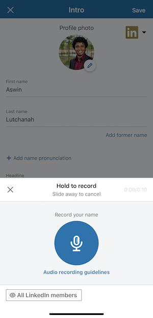 Aswin Lutchanah - record your name on LinkedIn