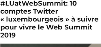 10 comptes Twitter - Web Summit 2019